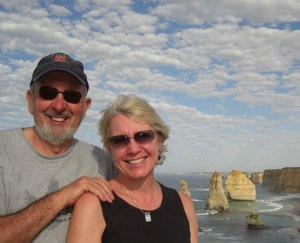 Jim Swenson and Janet Gillaspie on the Great Ocean Road, Australia.