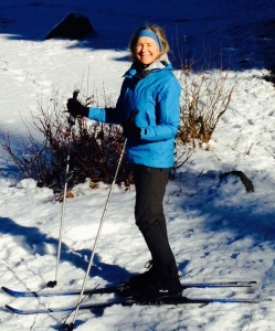 Cross country skiing is one of Marsie's many avocations.
