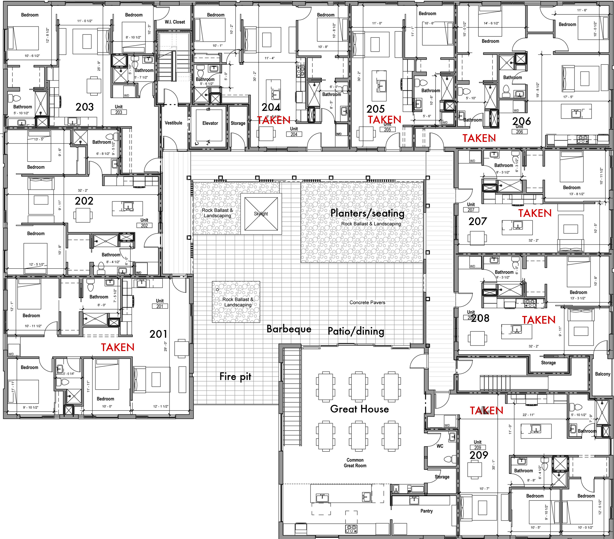 Floor plans pdx commons cohousing for Floor plans with photos